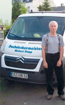 Dachdeckermeister Michael Stopp in Geyer